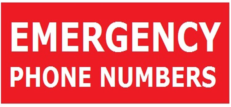 Emergencies Telephone Numbers