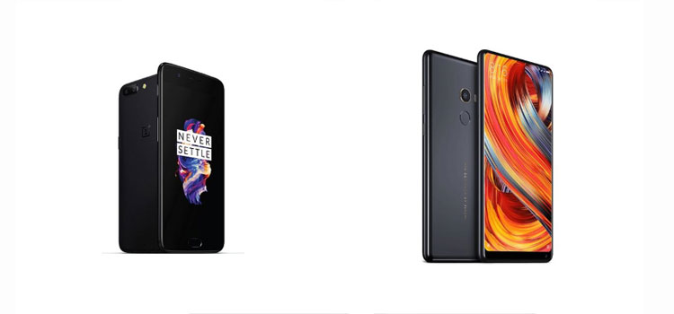 Xiaomi Mi MIX 2 vs OnePlus 5 Price, Specifications, Features Compared