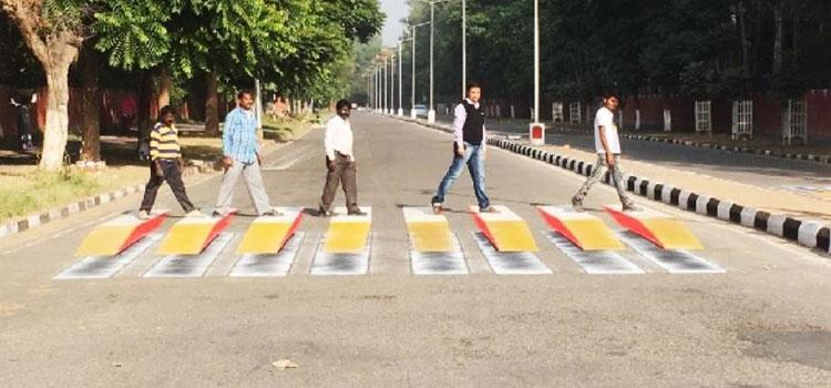 Chandigarh's 3D Zebra Crossing