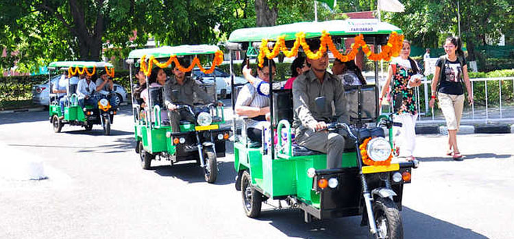 Free E- Rickshaws