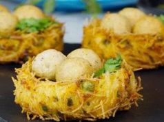 Potato Paneer Bird Nest