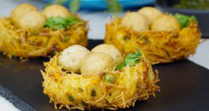 Potato Paneer Bird Nest