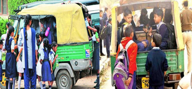 Overloaded Autorickshaws