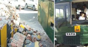 Army School Bus Brake Fail