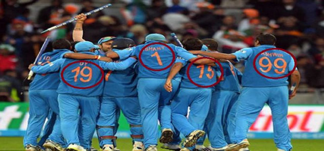 Indian Cricketers Jersey Numbers