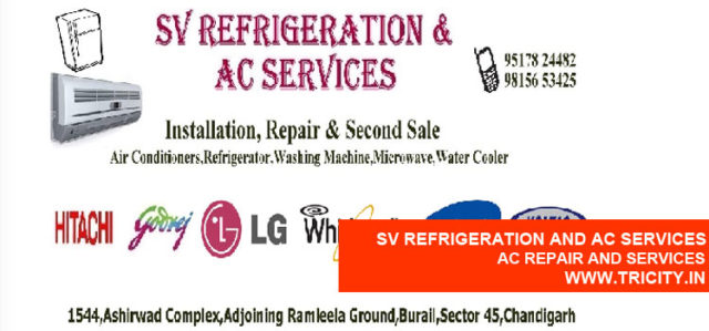 Sv Refrigeration And Ac Services
