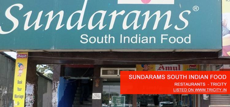 Sundarams South Indian Food