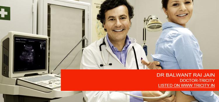 DR BALWANT RAI JAIN
