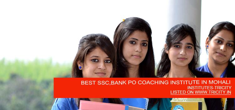 BEST SSC,BANK PO COACHING INSTITUTE IN MOHALI