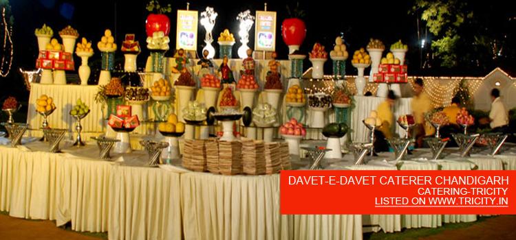 DAVET-E-DAVET CATERER CHANDIGARH