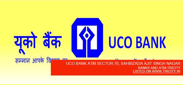 UCO BANK ATM SECTOR 70, SAHIBZADA AJIT SINGH NAGAR
