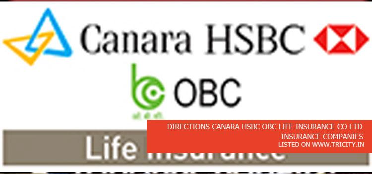 DIRECTIONS CANARA HSBC OBC LIFE INSURANCE CO LTD