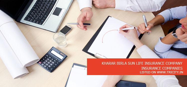 KHARAR BIRLA SUN LIFE INSURANCE COMPANY