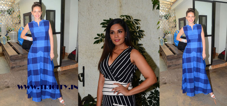 "Actress richa chadda during the trailer launch of film ""jia aur jia"" in mumbai."