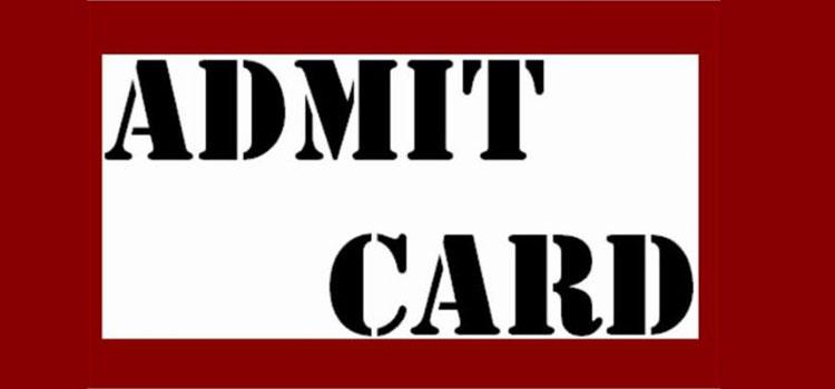 Admit Card CBSE