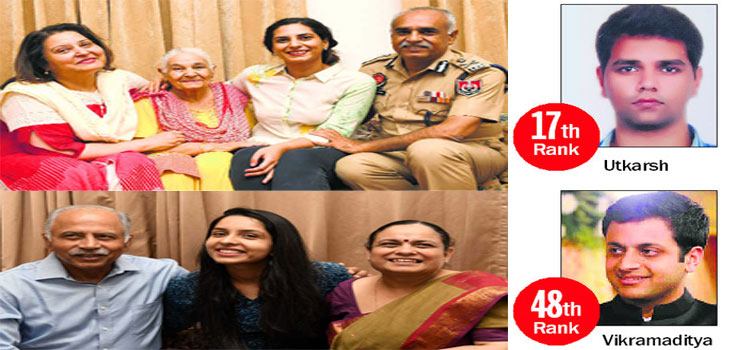 Tricity topper in UPSC exams