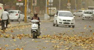 Dust storm hits Chandigarh